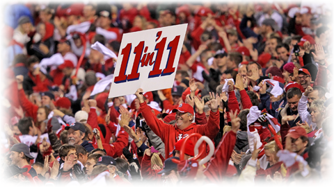 """Cardinals """"11 in '11"""" sign"""