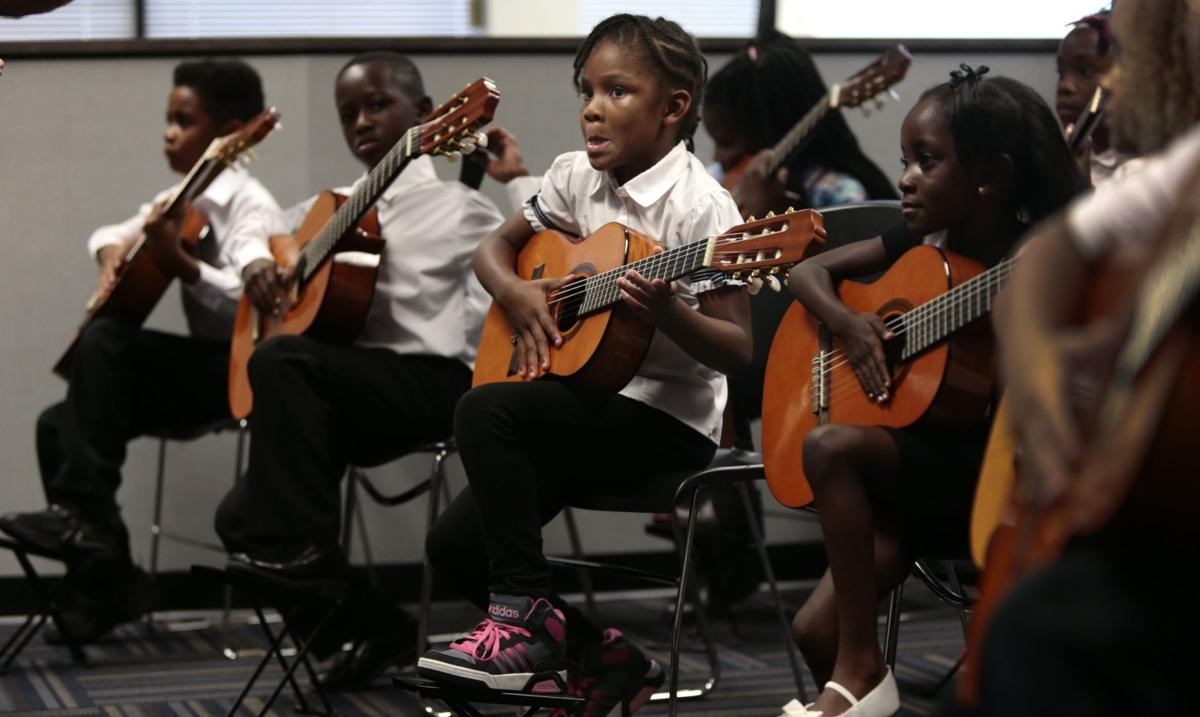 Classical guitar program at Adams Elementary