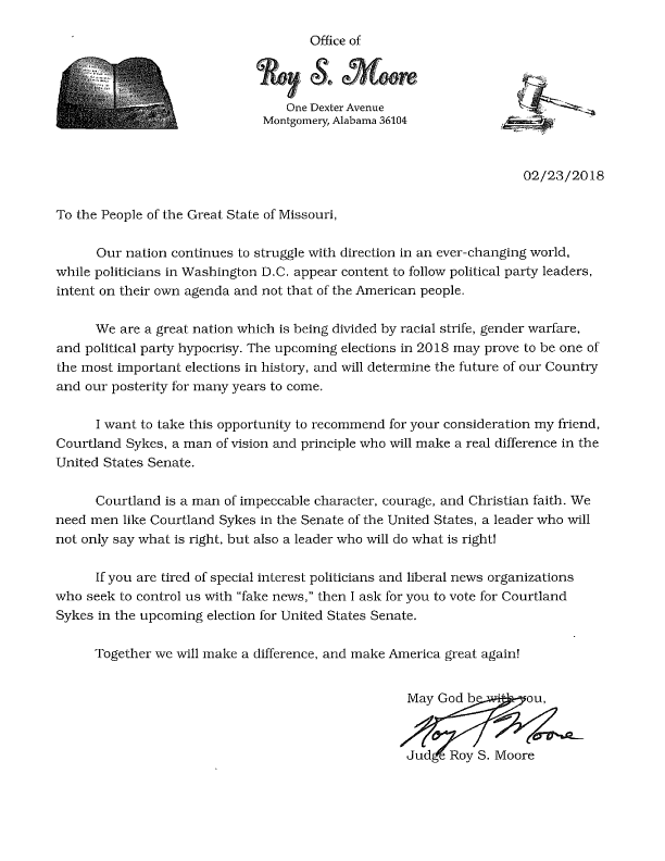 Moore letter