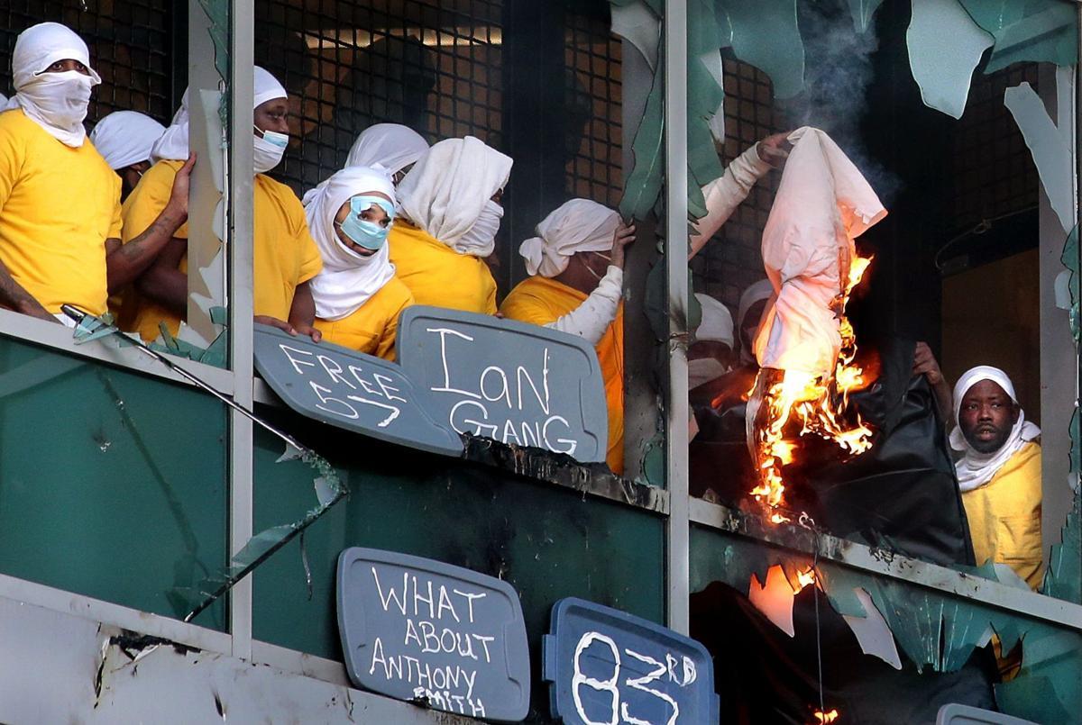 Prisoners break windows, set fires at city jail