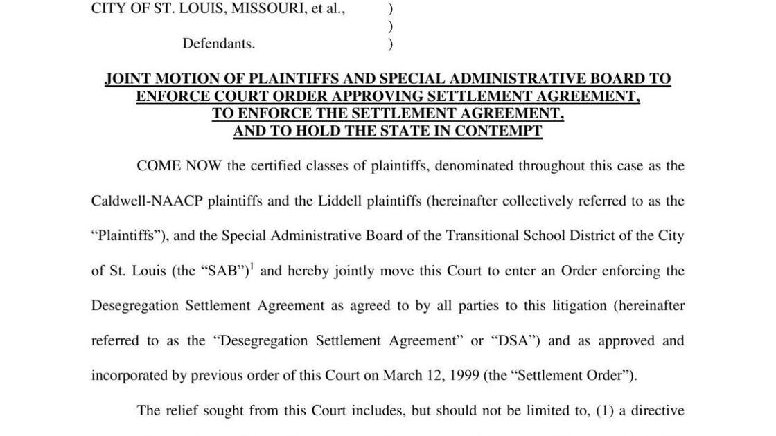 1999 Desegregation Settlement Agreement Stltoday