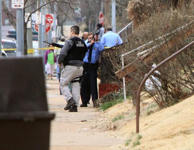 Marshals, officer shot