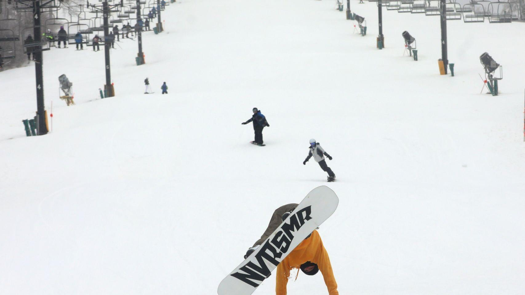 Skiers and snowboarders flock to the slopes on opening day at Hidden Valley Ski Resort