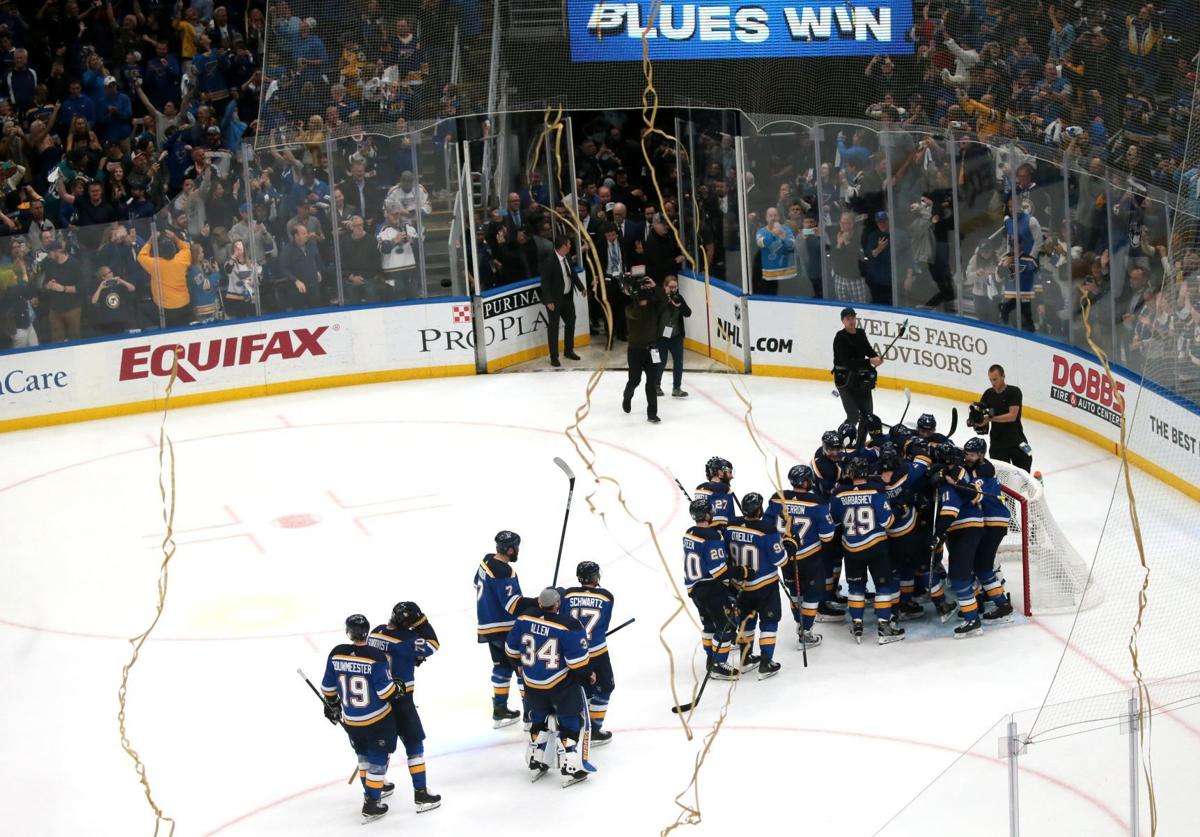 a12c32f8 Glorious! Blues go marching in to Stanley Cup finals after 49-year ...