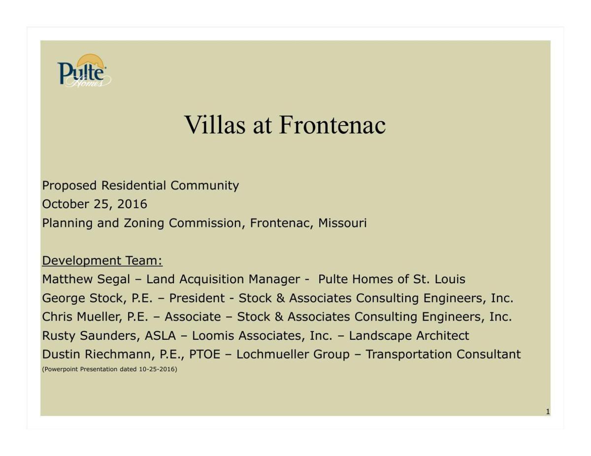 Villas At Frontenac Proposal