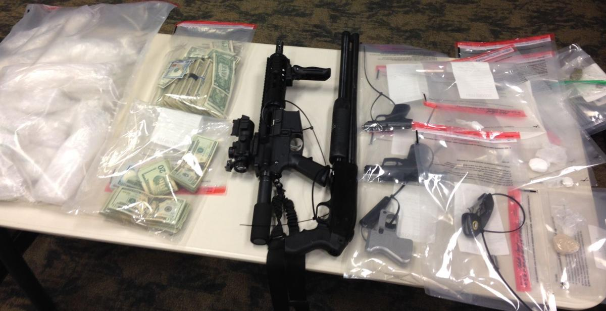 Items seized in meth bust