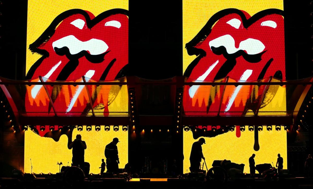 Rolling Stones stage under construction at The Dome at America's Center
