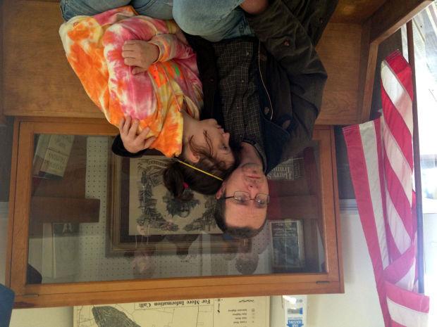 Scott Moyers sits with Angel Reid