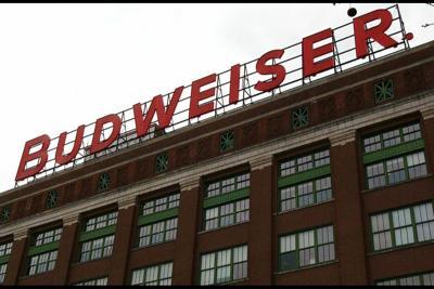 Budweiser building at Anheuser-Busch