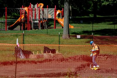 Radioactive contamination at St. Cin Park in Hazelwood