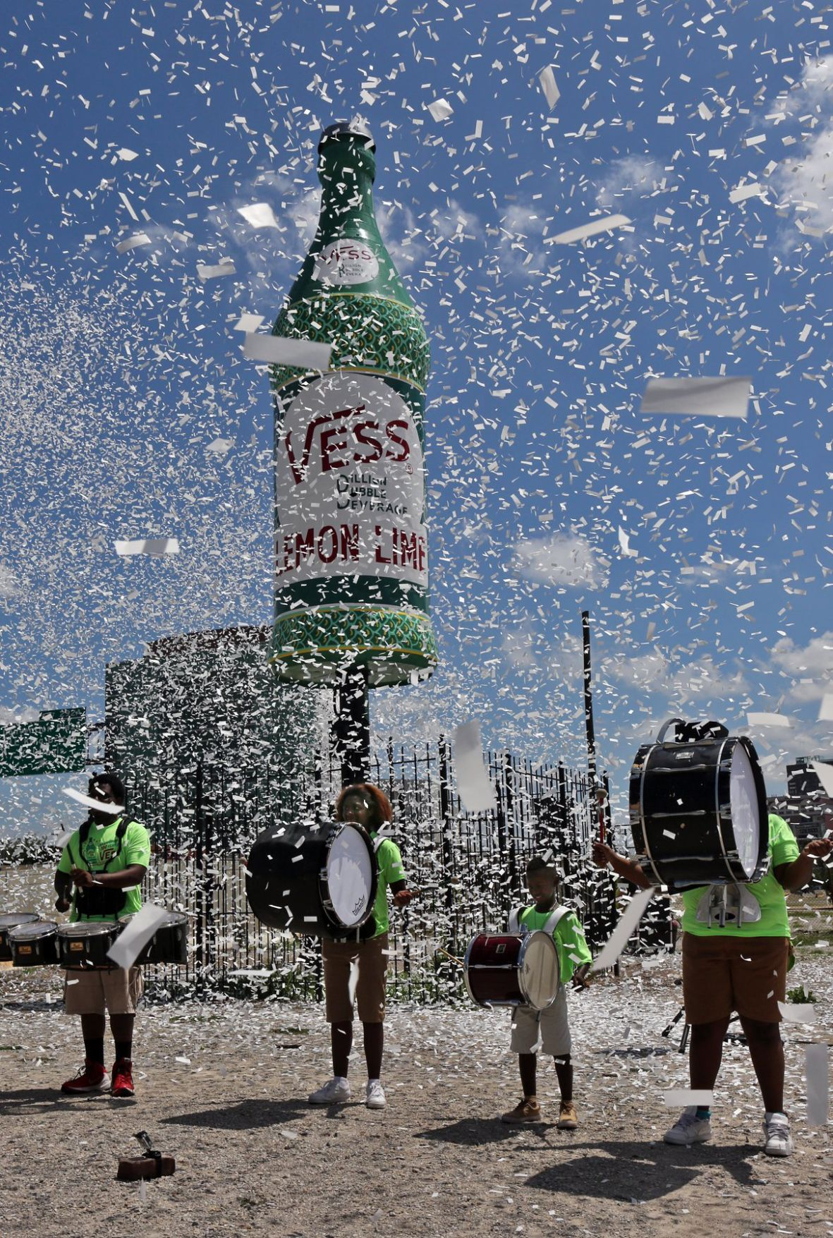 Iconic Vess Bottle restored in downtown St. Louis