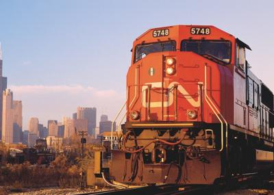 A Canadian National locomotive