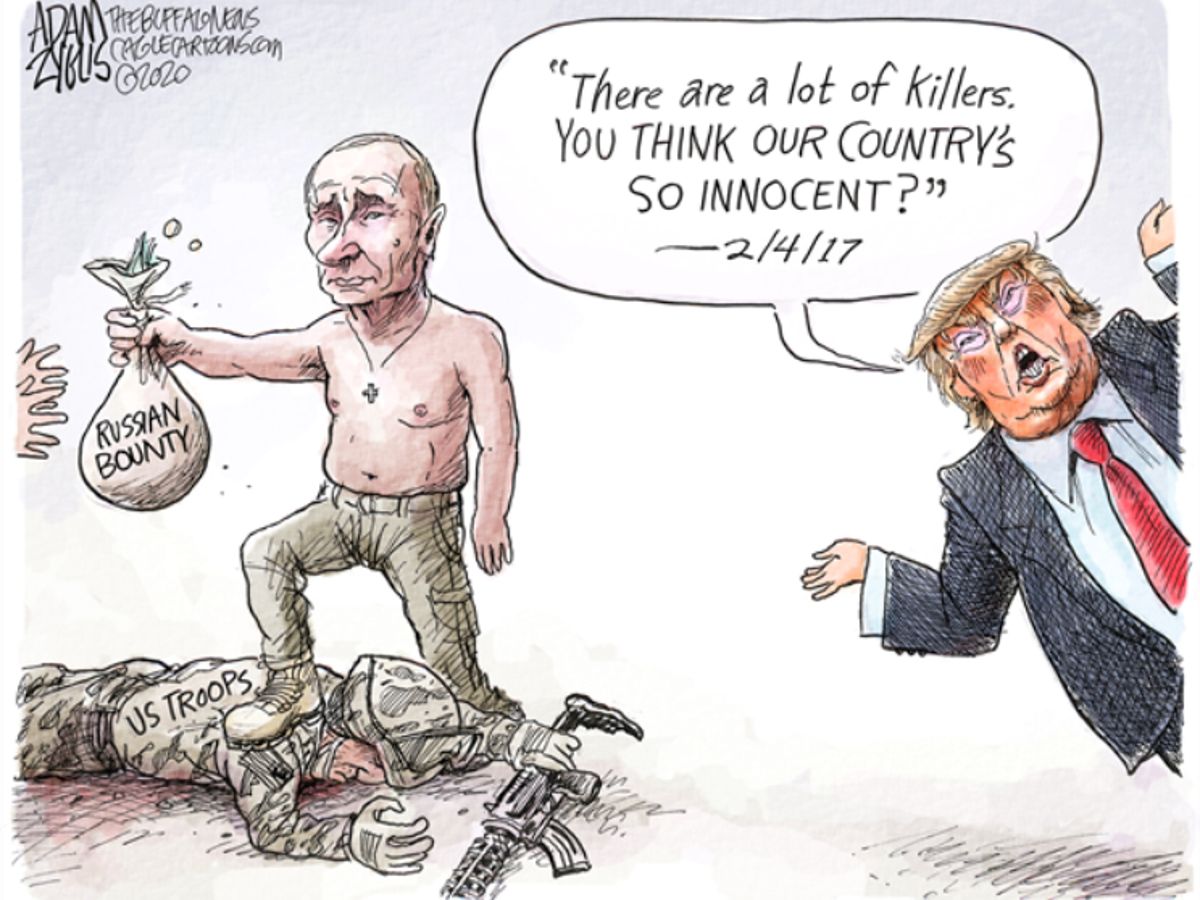 In The Cartoons Russian Bounties Masks Travel Ban Editorial Stltoday Com