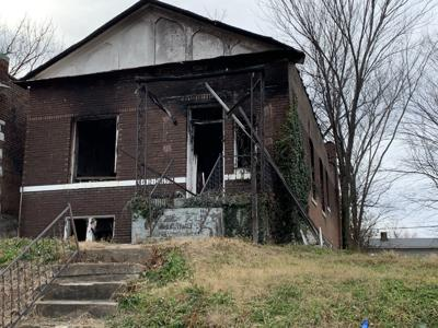 Burned out home on Ashland Avenue in the Greater Ville