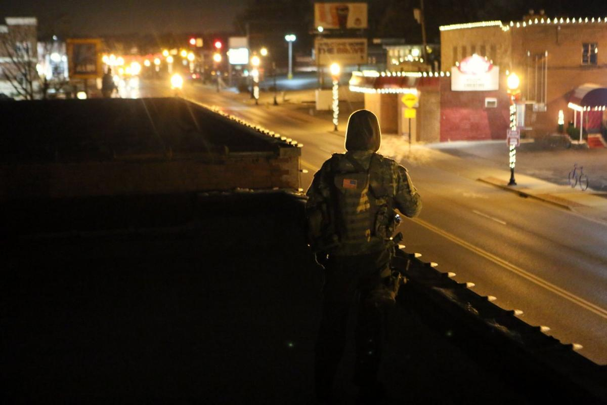 Oath Keepers keep watch in Ferguson