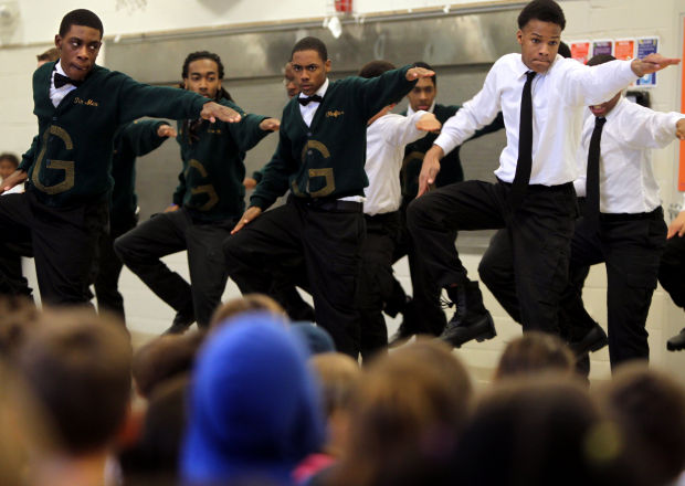 Step team performs at Tillman Elementary