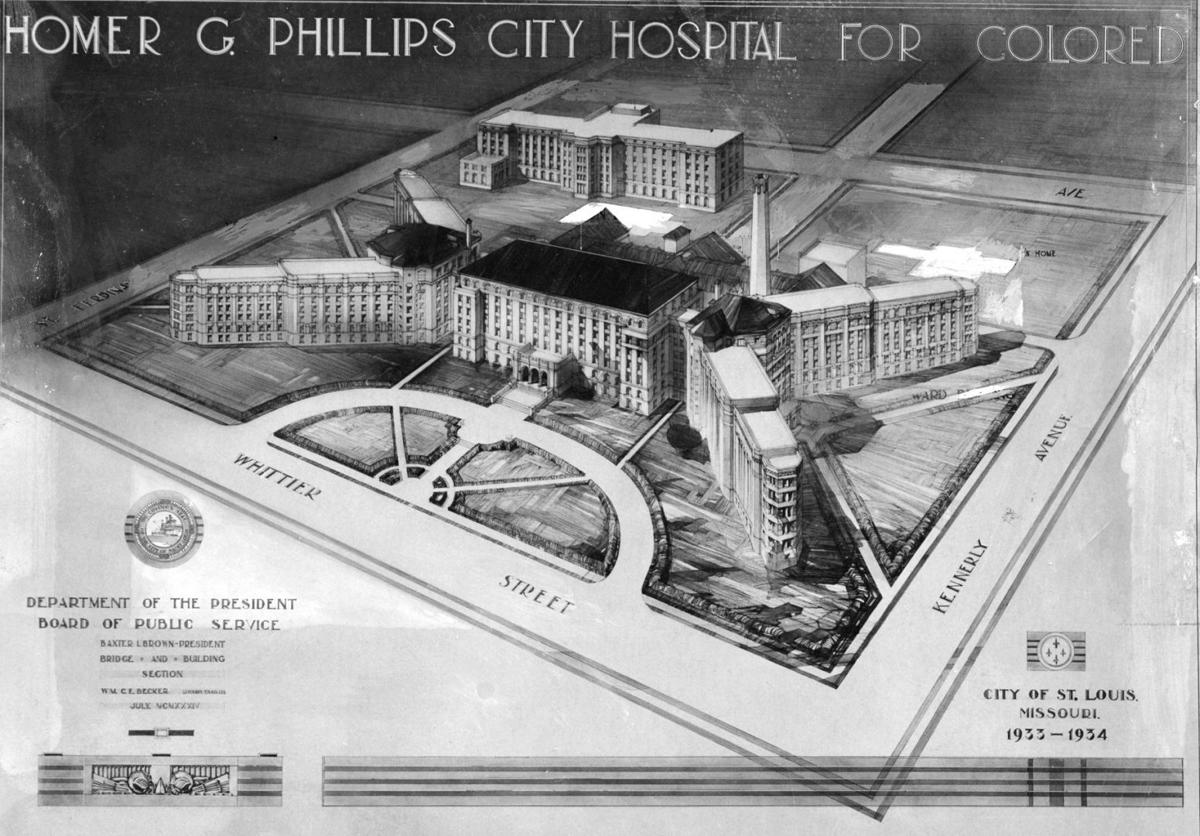 Plan for Homer G. Phillips Hospital