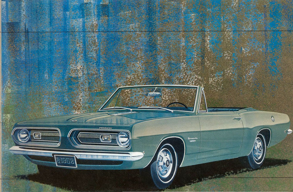 68 Barracuda — Plymouth gave it four new engines — just for