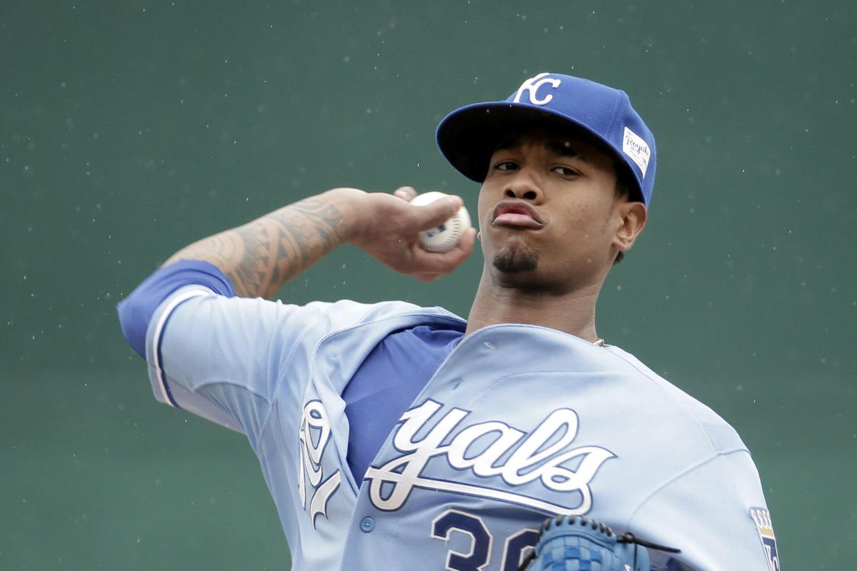 4d12b0985 Yordano Ventura. Kansas City Royals starting pitcher Yordano Ventura throws  during a game ...