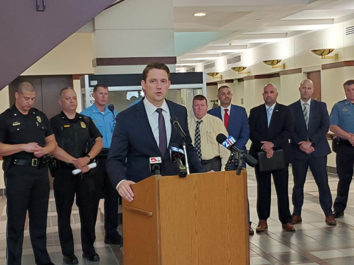 Tom Haine at Cross-River crime task force launch