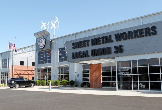 Sheet Metal Workers Complete Green Center Business