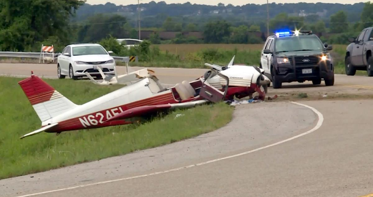 Small airplane crash-lands in Columbia, Ill , injuring all 4