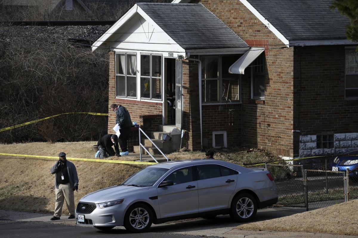 Police investigate shooting scene