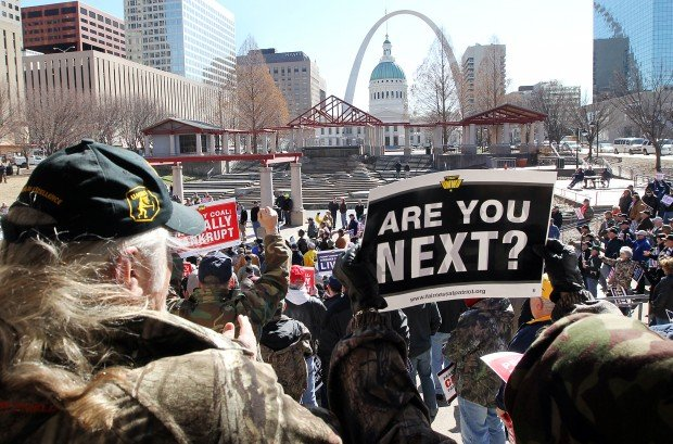 United Mine Workers of America protest outside of Peabody Coal