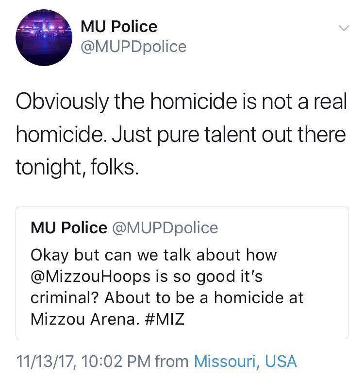 MUPD tweets
