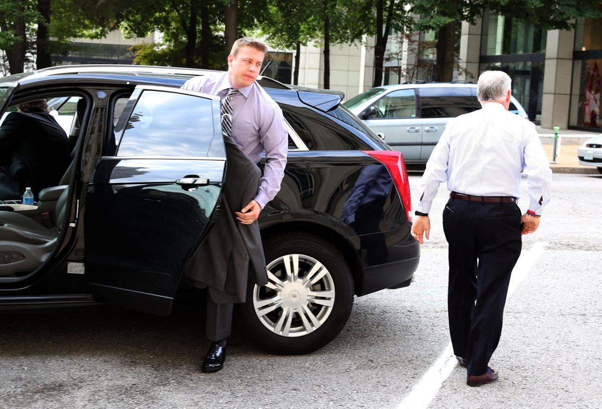 Former St. Louis cop Jason Stockley arrives