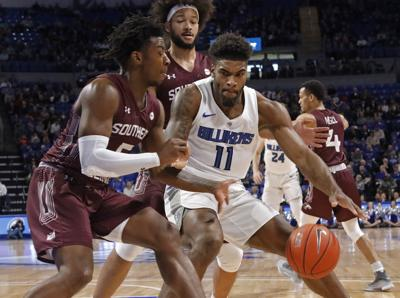 The Billikens and Salukis battle at Chaifetz Arena