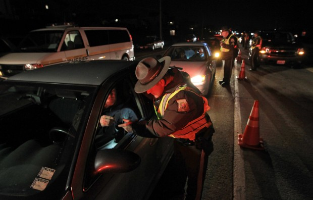 Sobriety checkpoint in suburban St. Loius