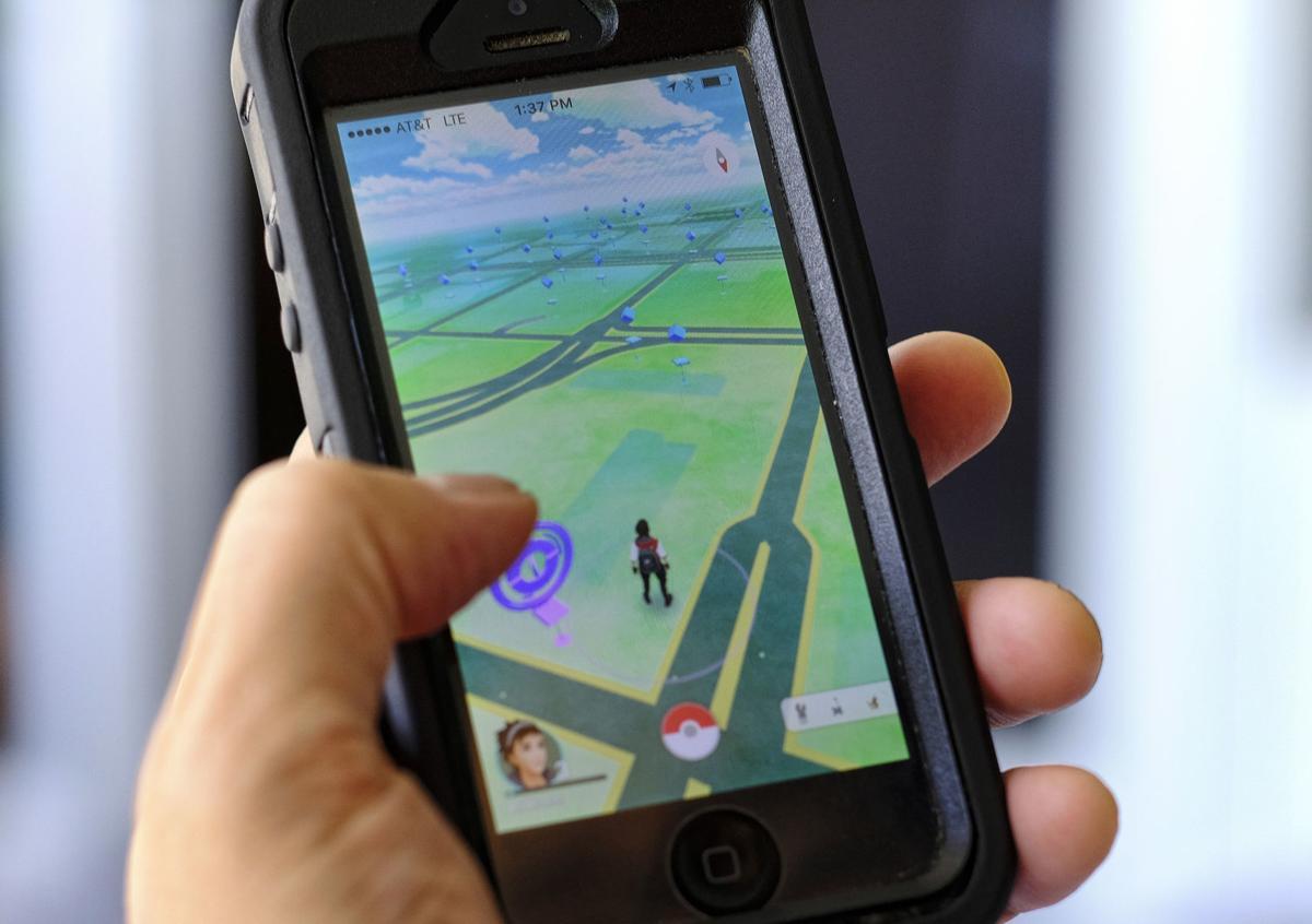 Pokemon app on phone