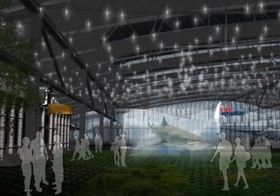 A rendering of the St. Louis Aquarium