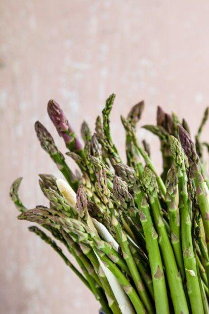 Fresh asparagus for the season