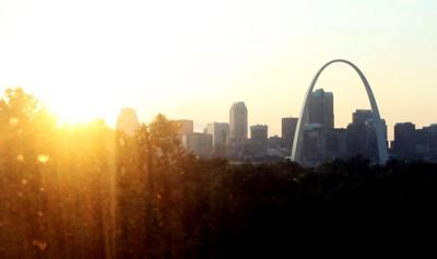 Arch and St. Louis skyline