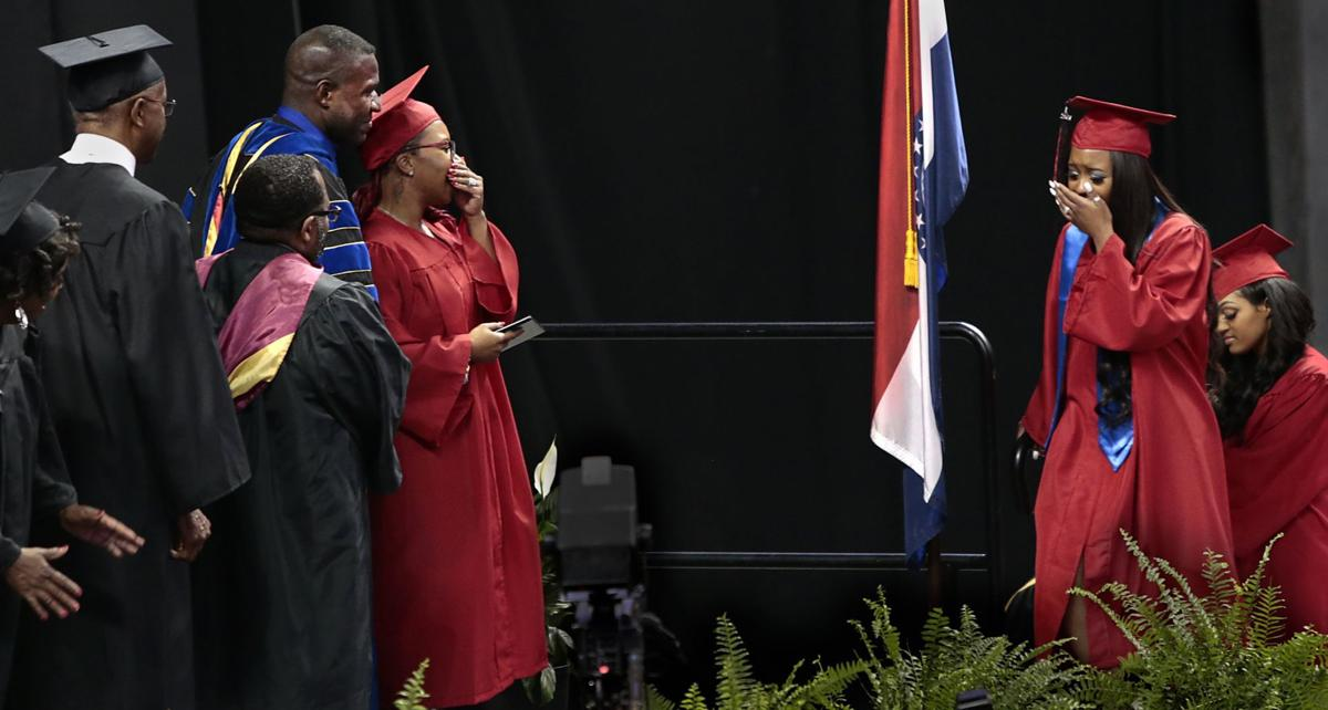 Lezley McSpadden, daughter, graduate together from Jennings High