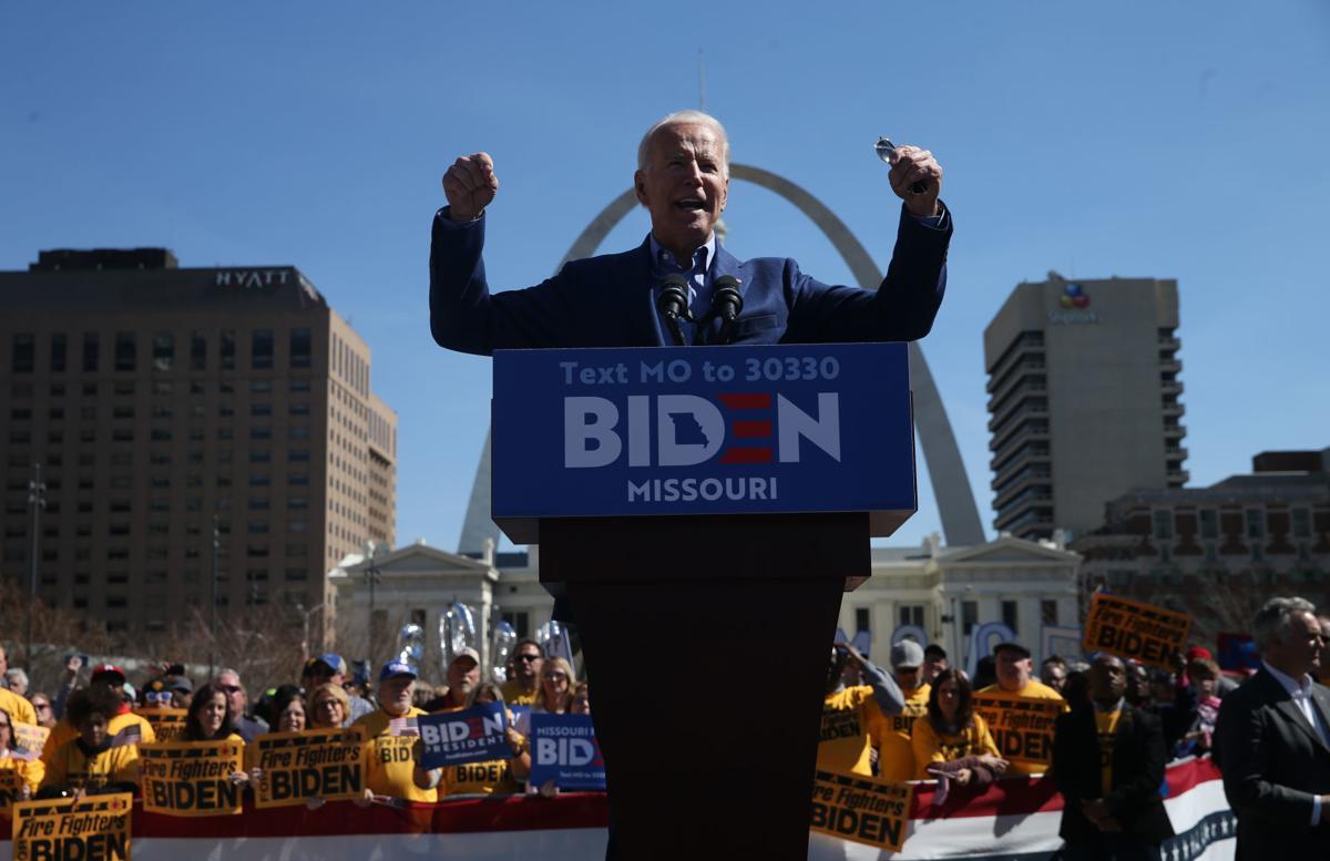 Former Vice President Joe Biden stumps at Kiener Plaza