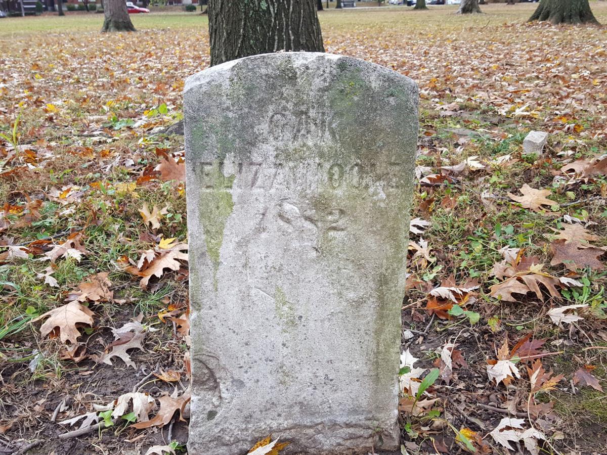 Eliza Hoole memorial marker in Tower Grove Park