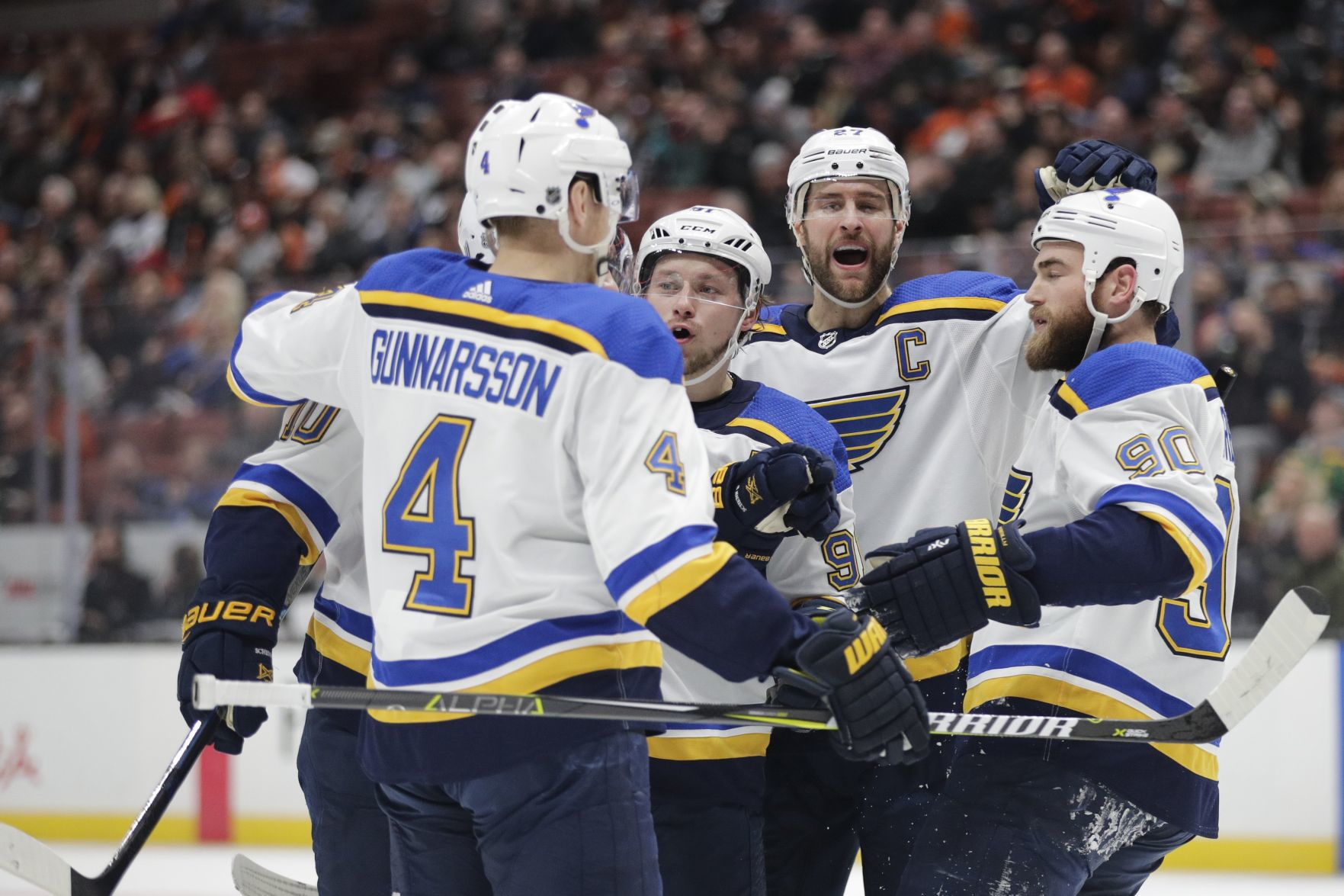 Fighting To Stay In The Wild-card Race, Blues Dominate Ducks Ahead Of Midseason Break