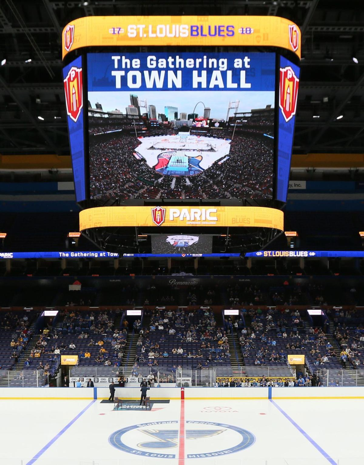Located on the Penthouse level in the corner of the Scottrade Center, the  video-control room features two large windows that allow staff members to  witness ...
