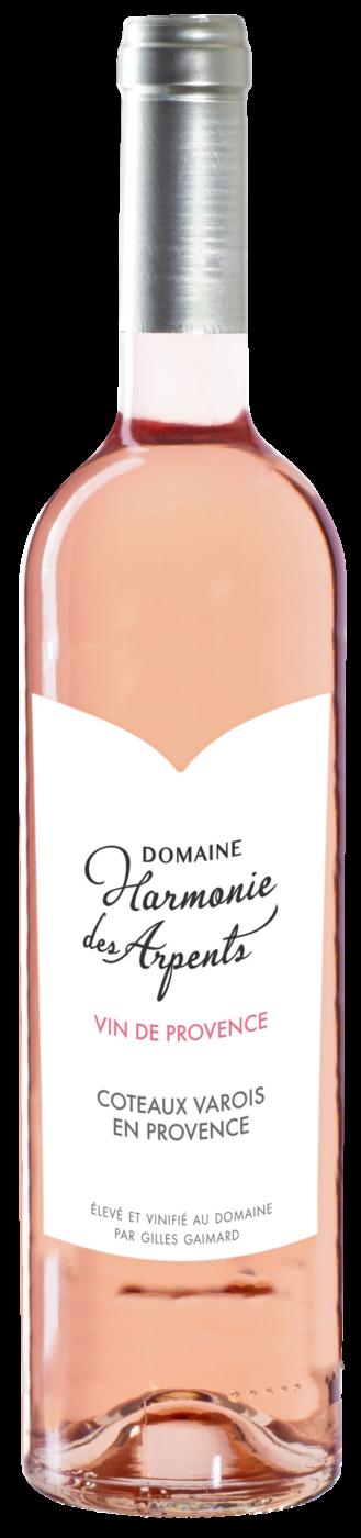 Domaine Harmonie des Arpents 2018 Côteaux Varois en Provence, France