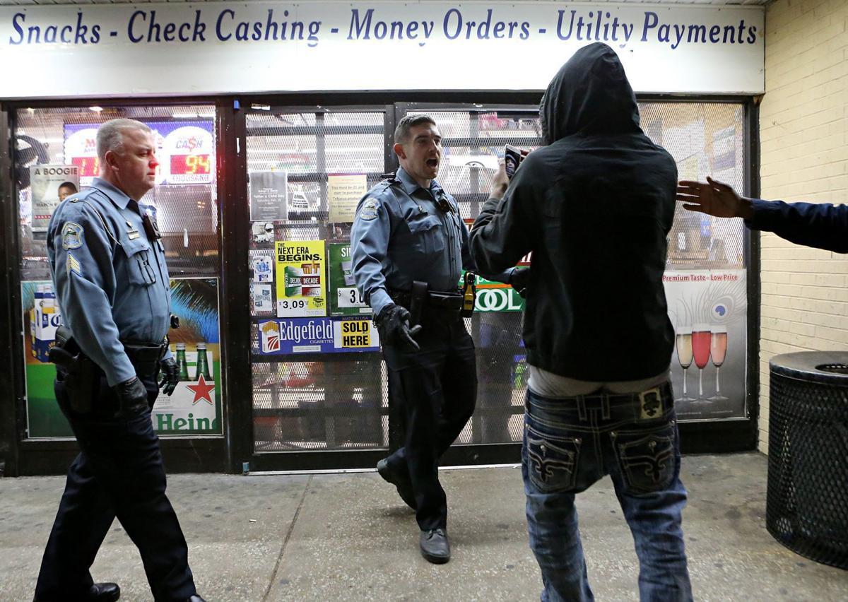 Arrest at Ferguson Market