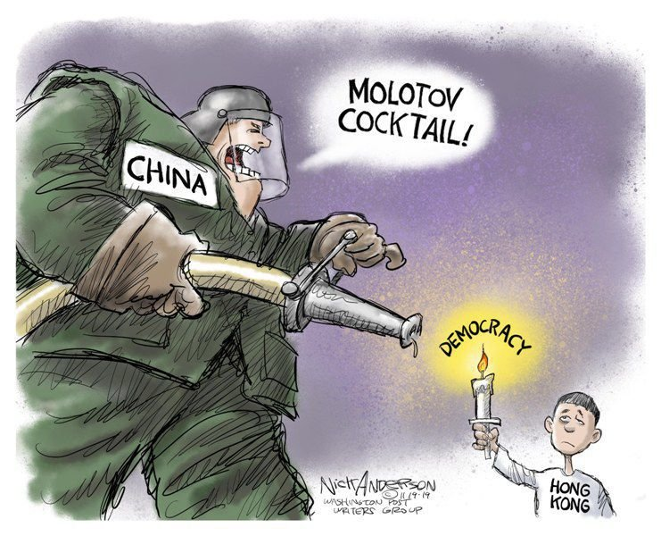 In the cartoons: Hong Kong; Impeachment; NRA
