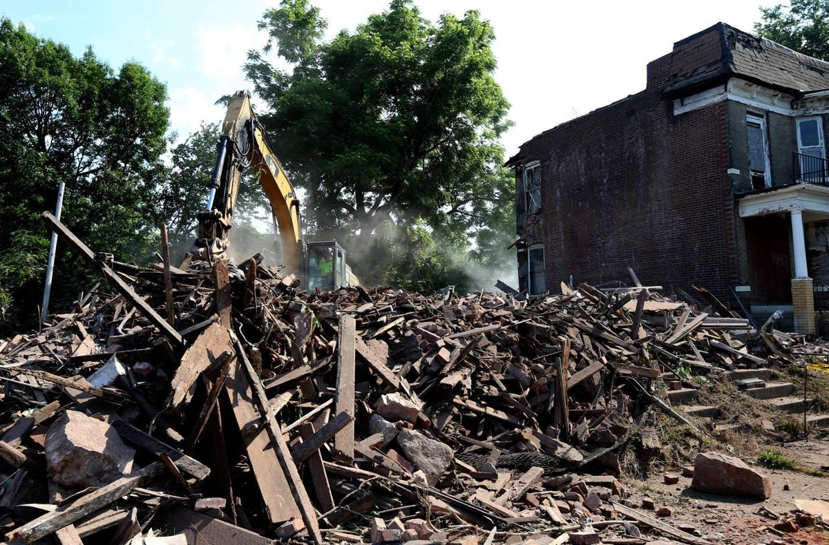 Razing vacant homes along