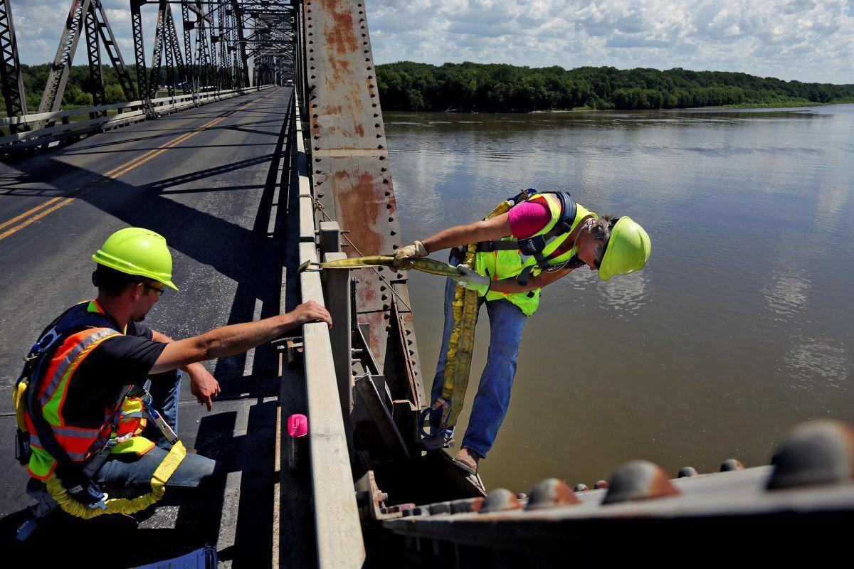 Champ Clark Bridge inspection