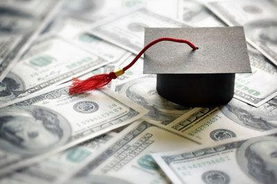 Mortarboard with money