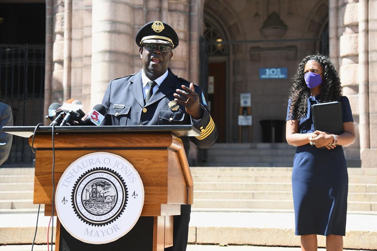 St. Louis City Police Chief John Hayden announces his plan to retire.