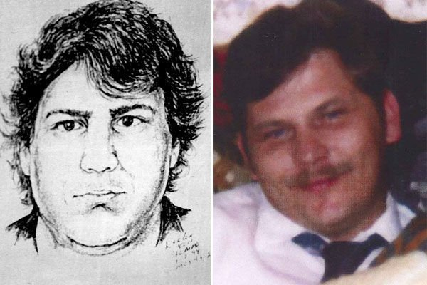 Police sketch of Housman suspect and Earl Cox