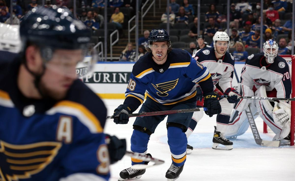 Blues, Blue Jackets play final exhibition